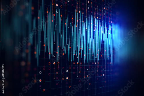 Staande foto Abstract wave Audio waveform abstract technology background