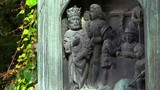 Bas-relief of the king and his subjects in Stockholm. Sweden. 4K.