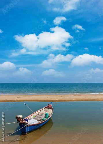 Fishing boat on daylight Poster