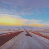 strada neve paesaggio