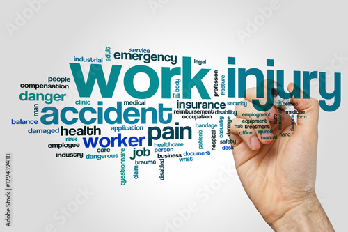 Work injury word cloud