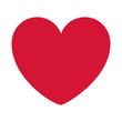 red heart design icon flat vector illustration