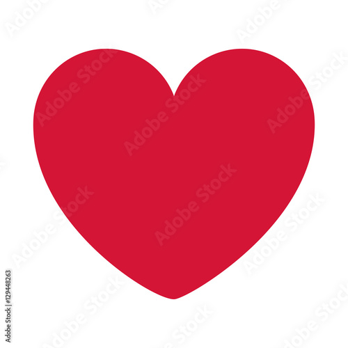 red heart design icon flat vector illustration - 129448263
