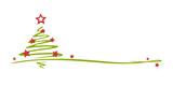Fototapety gezeichneter Weihnachtsbaum mit Schmuck