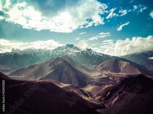 Mountain scene from Annapurna Circuit Trekking, Nepal Poster