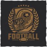 American football t-shirt label design