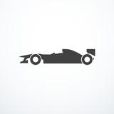 Formula 1 car icon