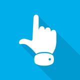 Hand cursor icon. Vector illustration.