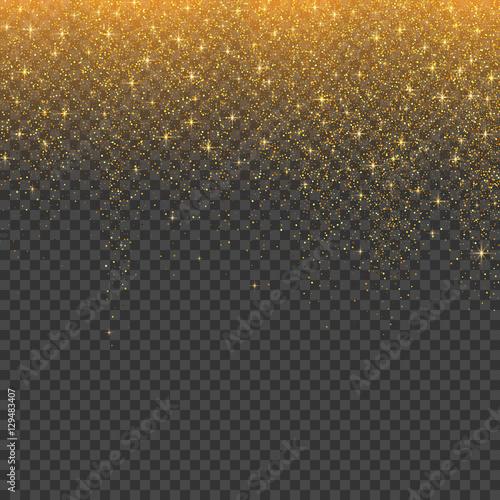 Brokat złoty stardust christmas tła. Ilustracji wektorowych