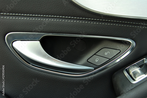 Poster car door handles and electric detail