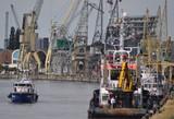Hafen. In Antwerpen