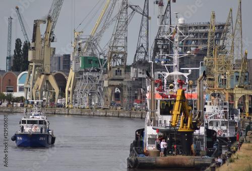 Fotobehang Antwerpen Hafen. In Antwerpen