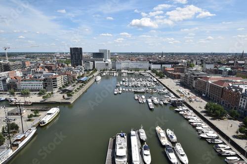Poster Ausblick auf Antwerpen