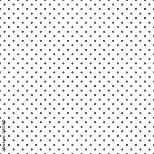 Seamless black and white polka dot background - 129505627