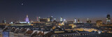 Fototapety Warsaw downtown panorama during the night, Poland