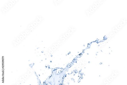 Staande foto Abstract wave blue water splash isolated on white background