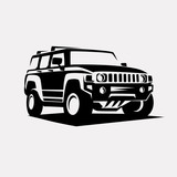 modern suv logo template, offroader car stylized vector silhouet