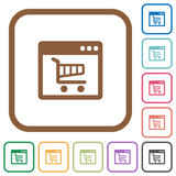 Webshop application simple icons