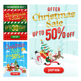 Christmas Sale Banner Set, Suitable For Call To Action Button, Advertisement, E-newsletter, Web Banners, Posters and Social Media Promotions