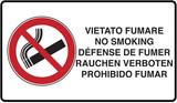 vietato fumare in cinque lingue