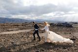 Walk of newlyweds