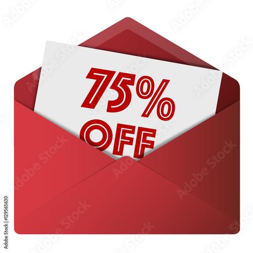 80% Off Envelope Poster