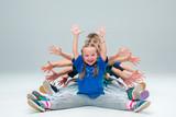 The kids dance school, ballet, hiphop, street, funky and modern dancers - 129566084