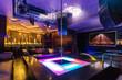 Dance pole in a nightclub