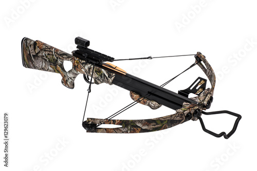 Foto op Aluminium Beijing Crossbow iisolated on a white background