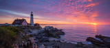 Portland Head Light Panorama Sunrise  - 129624244