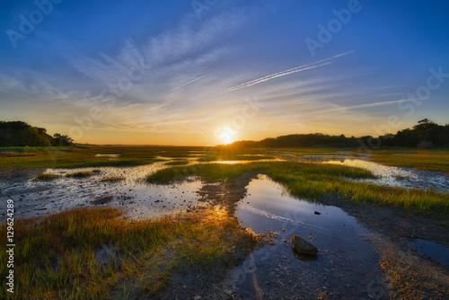 Papiers peints Morning Glory Wetlands Sunrise at Botany Bay Plantation