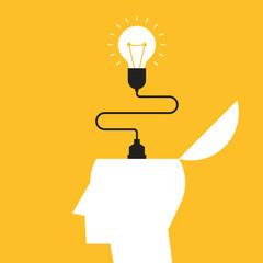 Creative idea concept, inspiration process vector illustration © thenatchdl