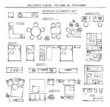 Fototapety Set Of Interior Elements