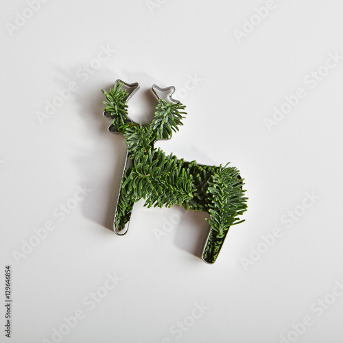Fotobehang Hipster Hert Creative Christmas Reindeer Form