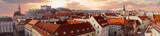 Panorama of old city in Bratislava, Slovakia