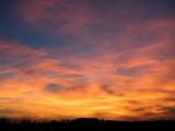 Himmel am Abend nach dem Sonnenuntergang