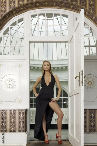Poster, Tablou attractive sensuality pretty blonde woman