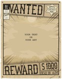 Vector template. Retro poster in style of times the Wild West. Comic book page with speed lines