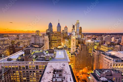 Foto op Canvas Praag Philadelphia, Pennyslvania Skyline