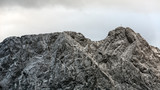 Mountain massif Giewont in the Western Tatra Mountains with a he