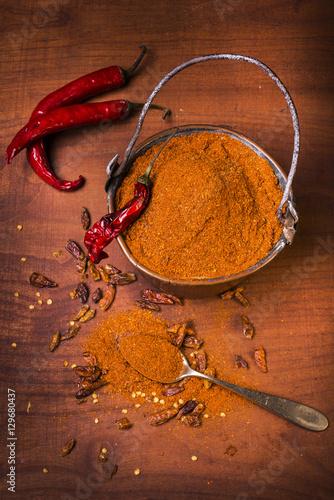 Aluminium Hot chili peppers peperoncino rosso piccante macinato