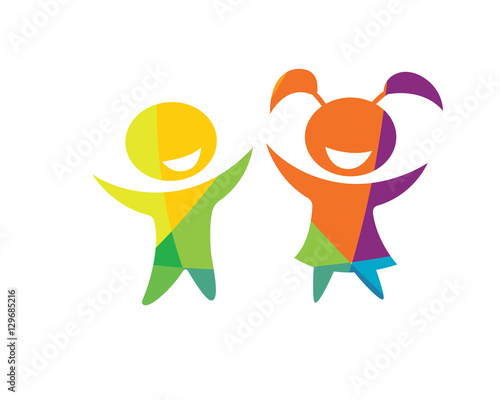 Modern Children Education Logo - Happy Kids Education