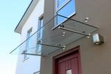 Haustür-Vordach aus Glas (Glass canopy front door) - 129688687