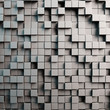 Grauer 3D Hintergrund mit Würfeln - 129691661