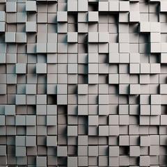 Grauer 3D Hintergrund mit Würfeln