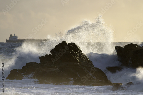 Seascape with beautiful storm light
