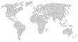 Weltkarte Skizze