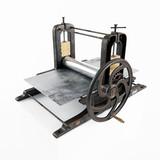 vintage printing press. 3D rendering