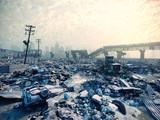 ruins of a city. 3D concept - 129693242