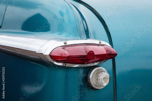 Poster Vintage Transportation - 1952 Ford tailight